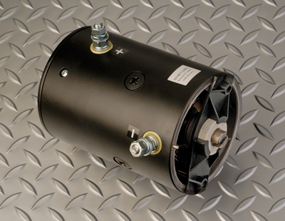 Photo of new snow plow pump motor sold by ProRebuilders